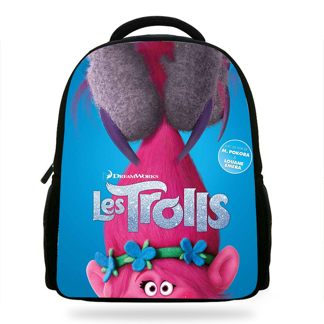 14inch Por Trolls Character Book Bags For Children Cartoon Printing Backpack Kids School Boys