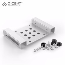 QICENTHard Drive Bracket, Aluminum 3.5 To 5.25 Internal HDD Mounting Adapter Kit – Sliver