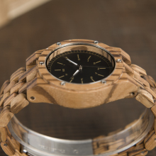 BOBO BIRD WN12 Wooden Watches Mens Brand Luxury Zebra Wood Band Quartz Watch Accept Logo Laser