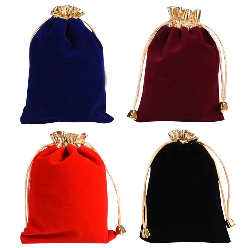 Velvet Jewelry Pouch Case Wedding Party Favor Storage Packing Gift Wrap Bag New