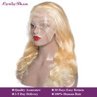 Lynlyshan волос 613 блондинка полный кружево парик средства ухода за кожей волна Малайзии 100% Человеческие волосы remy Предварительно выщипанные во