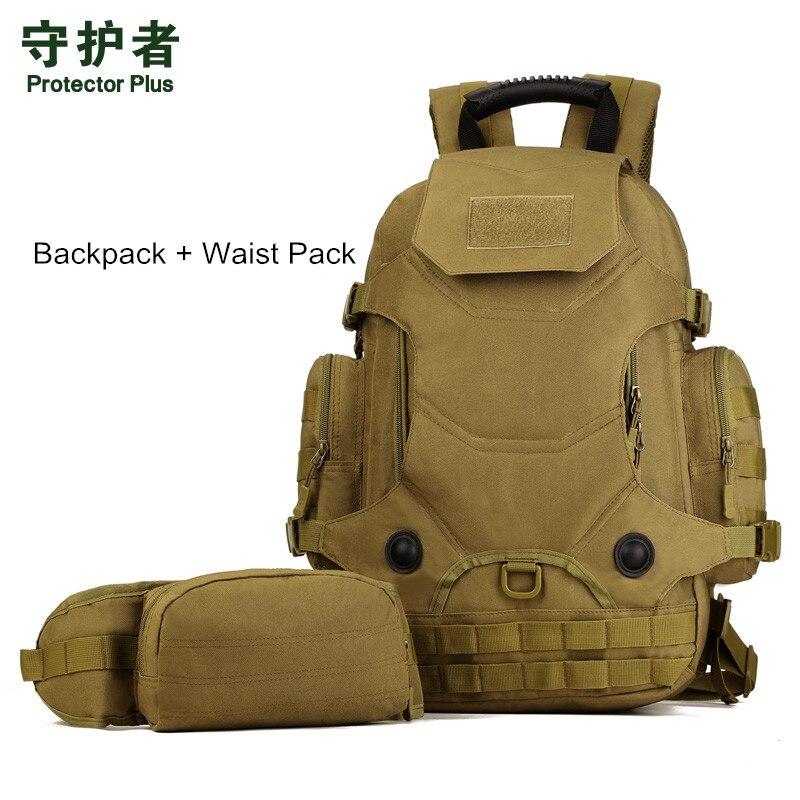 Hot unisexe 40L multi-fonction Camouflage sac à dos tactique militaire en Nylon taille Pack imperméable à l'eau en plein air voyage randonnée sacs - 5