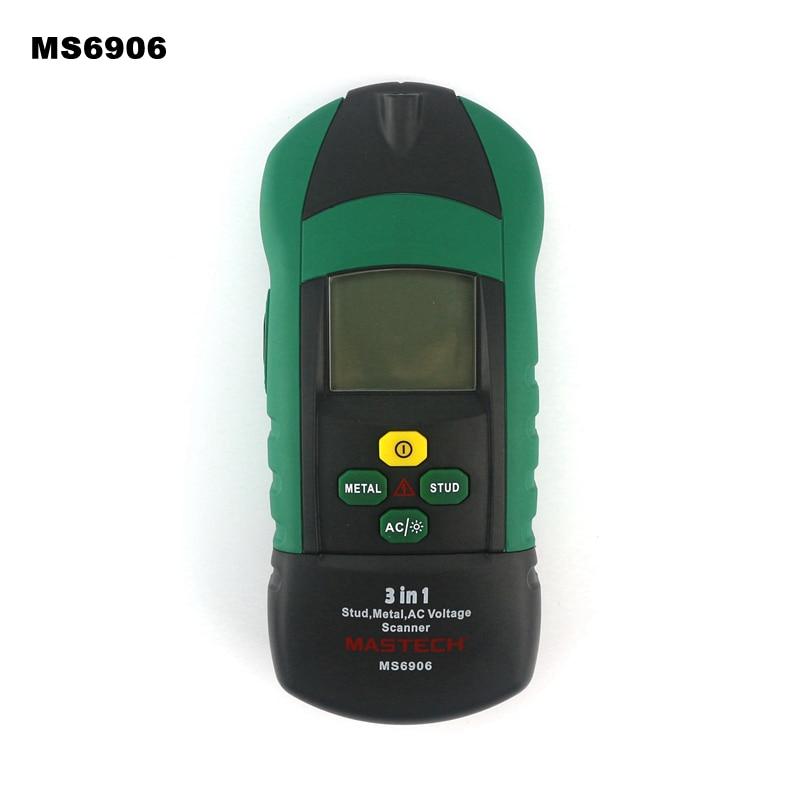 MasTech MS6906  3 in 1 Stud Metal AC Voltage Scanner Wooden pillar Detection Thickness Gauge w/NVC Test