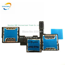 QiAN SiMAi 1PCS New SIM Card Slot SD memory card slot Flex Cable Replacement For Samsung