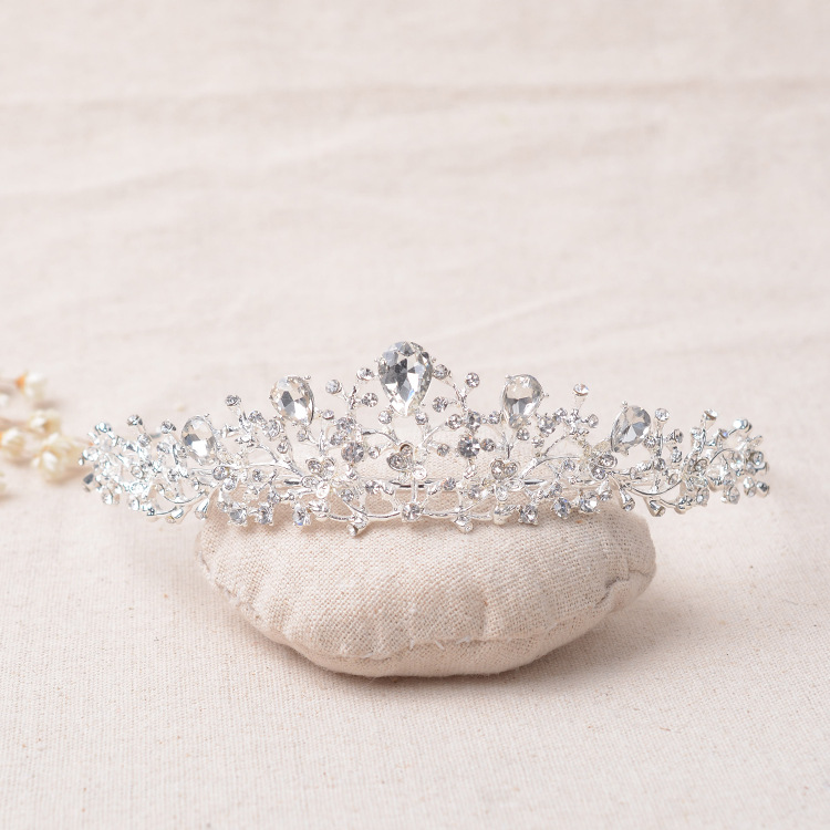 Pearl Wedding Headband Vintage Crystal Silver Planted Bridal Tiara Crown Hair Jewelry Wedding Headdress Women Hair Accessories free shipping star products feather accessories bridal headdress korean bridal hair accessories wedding tiara vintage singer