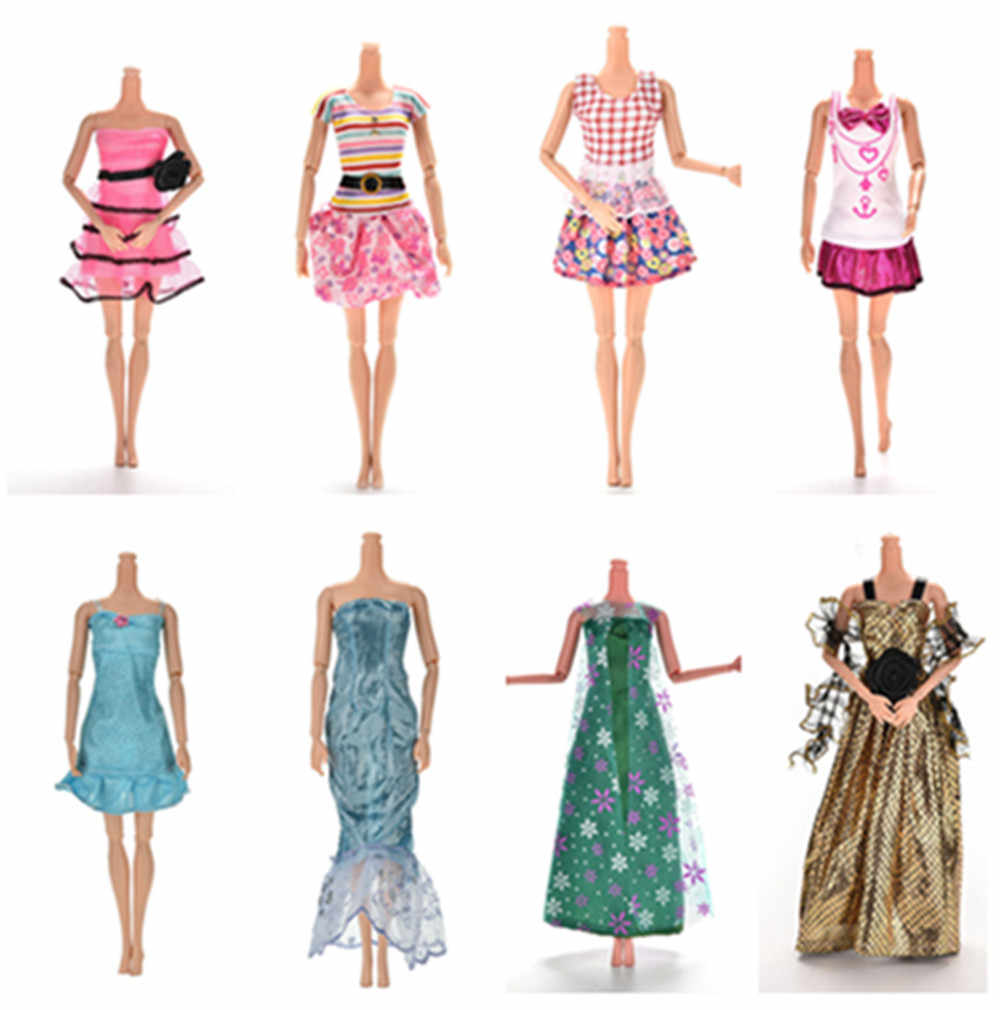 Gift Fashion Daily Wear Casual Vest Shirt Skirt Outfits Dress Dollhouse Accessories Clothes for Doll