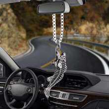 Car Pendant Ornaments Go fishing catch the fish skeleton Rearview Mirror Decoration Hanging Automobiles Decor Accessories Gifts