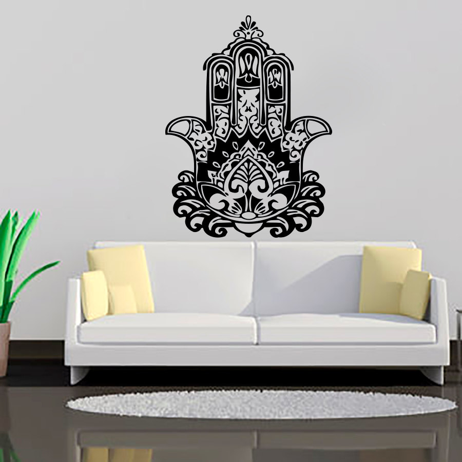 ZOOYOO Creative Home Decor Living Room Wall Stickers Indian Buddha Lotus  Mandala Wall Decals Vinyl Art Murals  In Wall Stickers From Home U0026 Garden  On ...