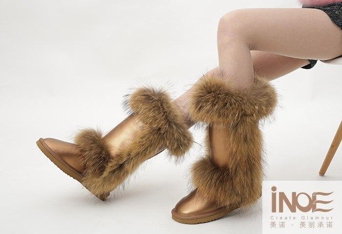forrado de peles botas de neve para