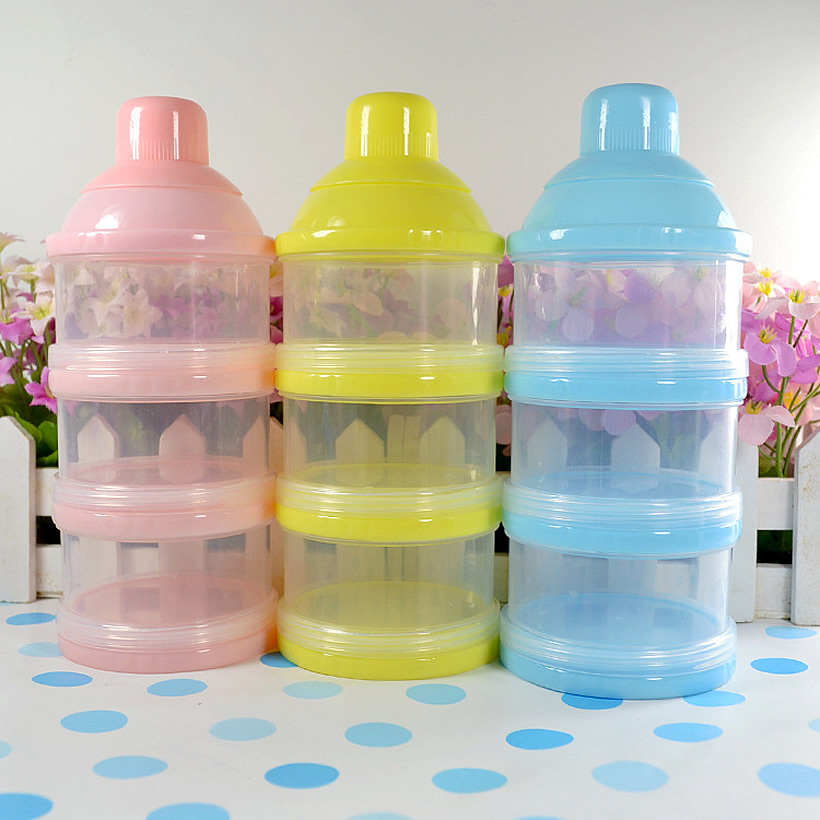 3 Layers Milk Powder Formula Dispenser Travel Baby Infant Feeding Container Storage Food In From Mother
