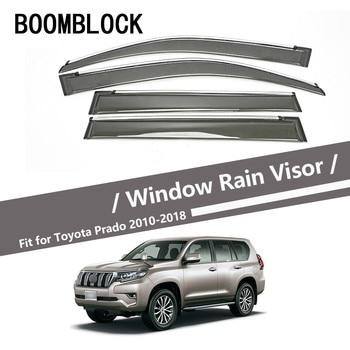 High Quality 4pcs Smoke Window Rain Visor For Toyota Prado J150 2018 2017 2016 2015 2014 2013 2012 2011 2010 Guard Accessories