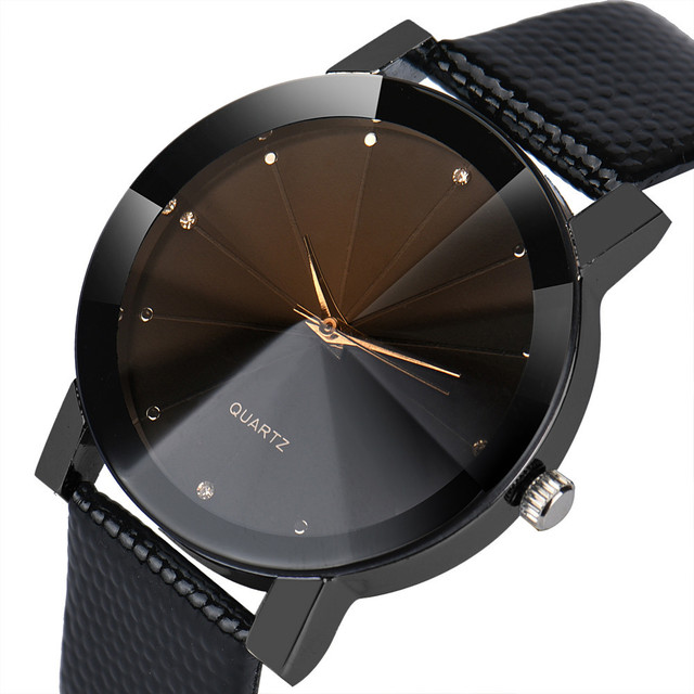 Unisex Leather Band Watches