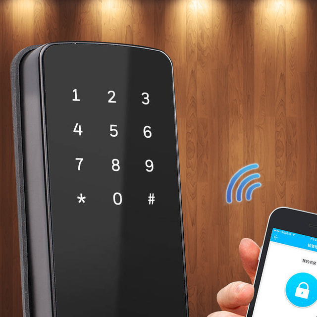 Door lock Keyles Electronic Furniture Lock Smart Door Wifi Keyless Bluetooth Digital Lock Smart Door Lock for home and apartment