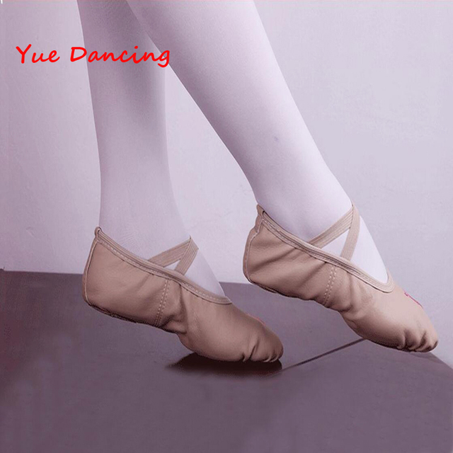 Nude Skin Color PU Leather Ballet Dance Shoes Professional Soft Practice Ballet  Shoes Slippers Pointe Dance Gymnastics Shoes 412891d88d0f