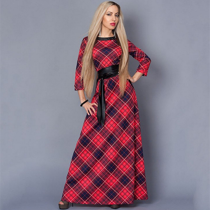 Plaid Party Dress