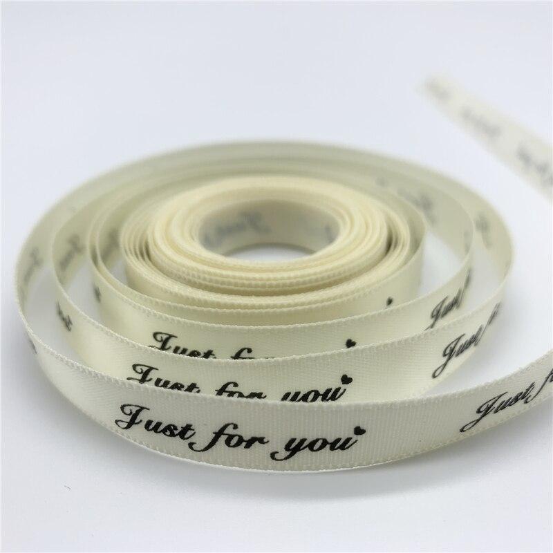 5yards 25mm Polyester Ribbon Printed Just For You Handmade Romantic Ribbon