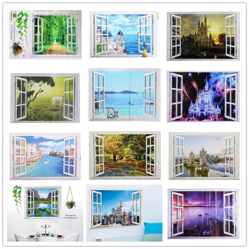 diy 3d wall stickers window view vinyl decals living room home bedroom office art decor various aliexpresscom buy office decoration diy wall