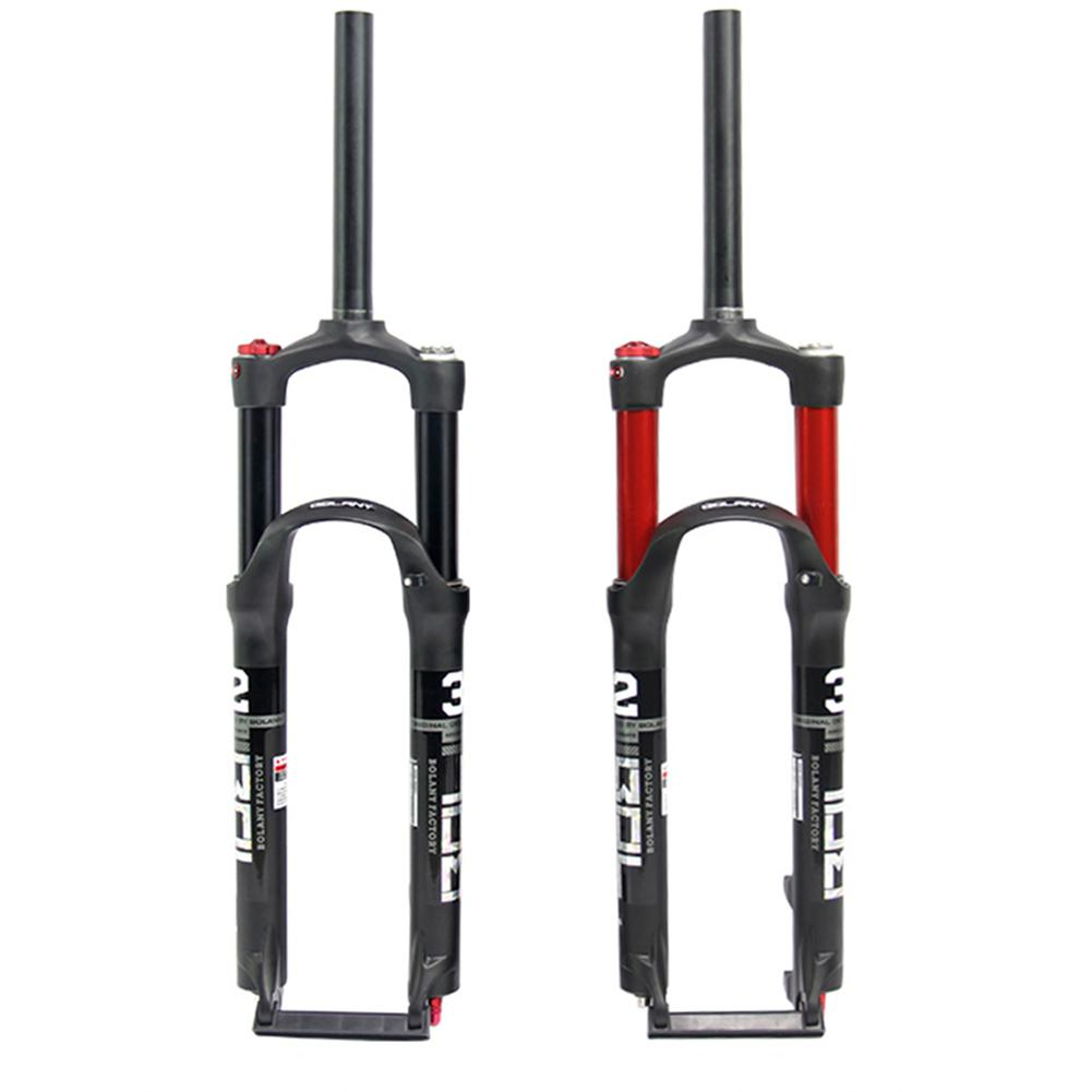 Aluminum Alloy Mountain Bicycle Front Fork <font><b>MTB</b></font> <font><b>Suspension</b></font> Air Fork Air Resilience Oil Damping Line Lock 26 Inches <font><b>27.5</b></font> Inches image