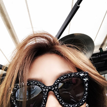 ФОТО cavero 2018 luxury brand sunglasses women crystal square sunglasses mirror retro full star sun glasses female black grey shades