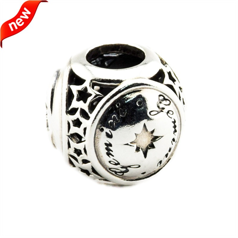 925 Silver Jewelry Beads DIY Fits Pandora Bracelets Charms Gemini Star Sign Silver Charm Beads for Jewelry Making Women Gift
