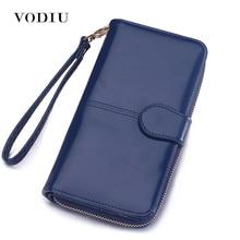 Wallet Women Purse Female Long Card Holder Coins Leather Wallet Phone Wallet Passport Clutch Bag Money Pocket Brand Logo Design цена