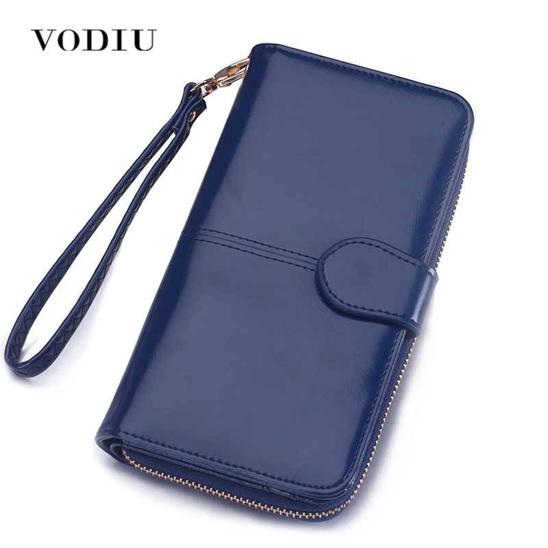 Women Repeating Dog With Vector Leather Wallet Large Capacity Zipper Travel Wristlet Bags Clutch Cellphone Bag