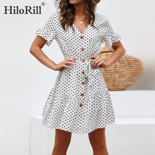 Summer Chiffon Dress 2019 Women Polka Dot Bandage A Line Party Dress Casual Boho Style Beach Dress Sundress Vestidos Plus Size-in Dresses from Women's Clothing on Aliexpress.com | Alibaba Group