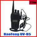 Comunicador de Radio de Dos vías Walkie Talkie uv b5 de Dos Vías 5 W 99CH UHF/VHF Radio Portátil de Doble Banda Baofeng UV-B5 UVB5 añadir auricular