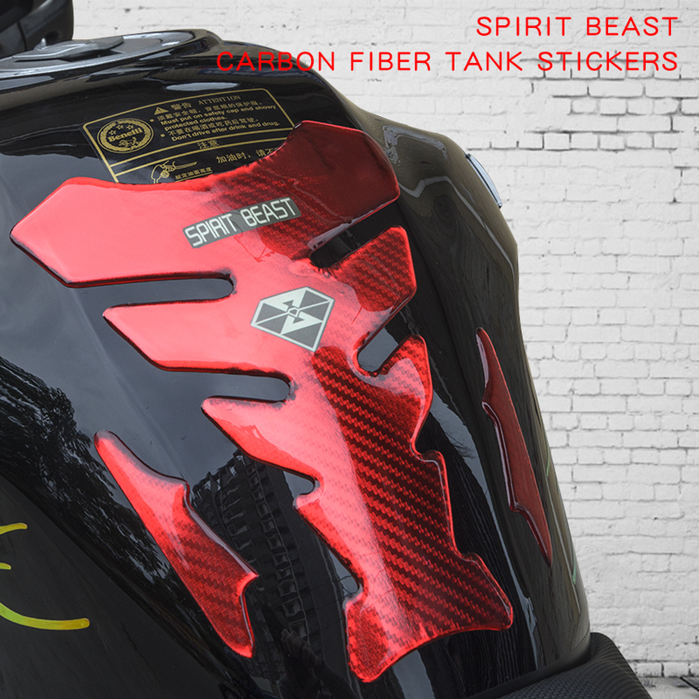 SPRIT BEAST Motorcycle Stickers accessories stickers waterproof motorbike protection Fuel tank protective For Honda Suzuki BMW image