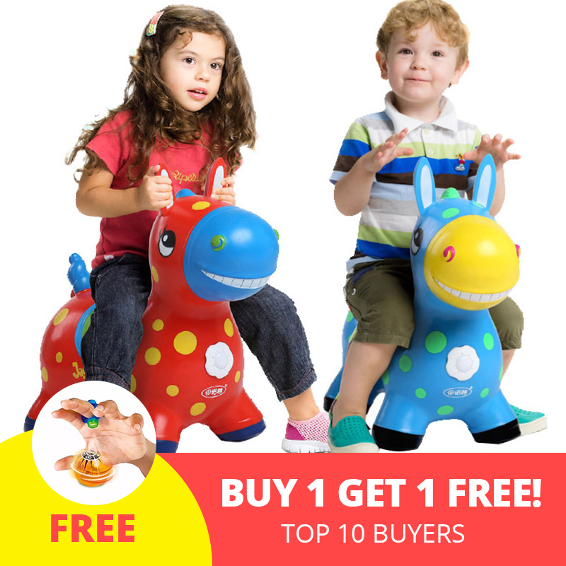 Kids Animal Bouncy Horse Hopper Toys Inflatable Bouncer Jumping Horse Ride On Child Baby Play Toys Random Delivery random delivery baby funny wooden toys developmental dancing standing rocking giraffe animal handcrafted toys