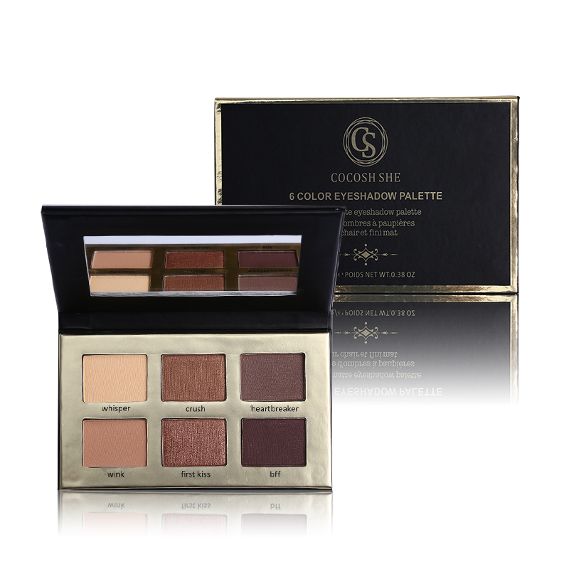 Cocosh She Cosmetics 6 Color Matte Natural Eye Shadow Palette