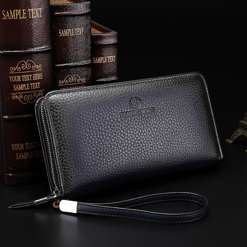 2016 Luxury Male Leather Purse Men\'s Clutch Wallets Handy Bags Business Carteras Mujer Wallets Men Black Brown Dollar Price (5)