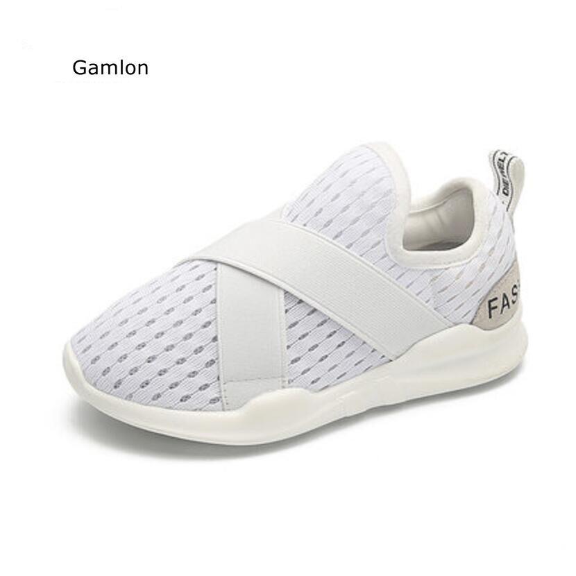 Gamlon Children's Pustable Net Shoes 2017 Boys White Sports Sneakers Mesh Summer Børn Piger Kids Shoes