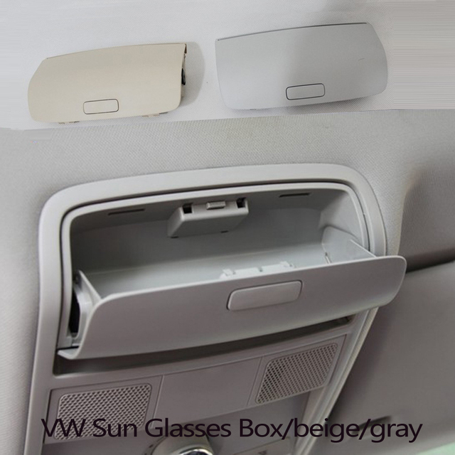 Car roof Sun Glasses Box Case holder For volkswagen VW B6 B7L Golf 6 Sagitar Tiguan skoda super yeti beige gray