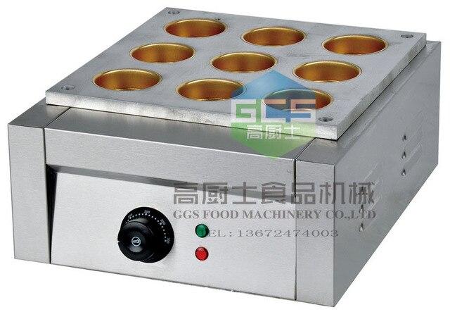 Kostenloser Versand Elektrische 9 Loch Bean Kuchen Grill Taiwan Rad