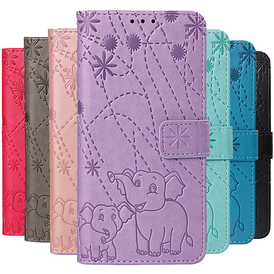 Elephant Wallet Flip Case For Xiaomi A2 Lite Pocophone <font><b>F1</b></font> Redmi 6 Pro 6A 5 Plus Note 5A Prime Back Cover For Nokia 6.1 7.1 <font><b>2018</b></font> image
