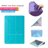 AAA Quality Wake Sleep Ultra Slim Magnetic Clear Matte Cystal Case Smart Cover For Apple Ipad