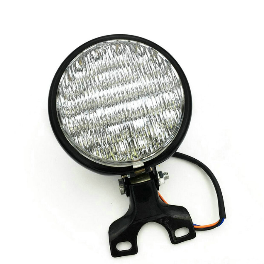 Image 5 - LED Cafe Racer Head Light Chrome /Black Motorcycle Headlight Head Light Lamp Harley Bobber Touring