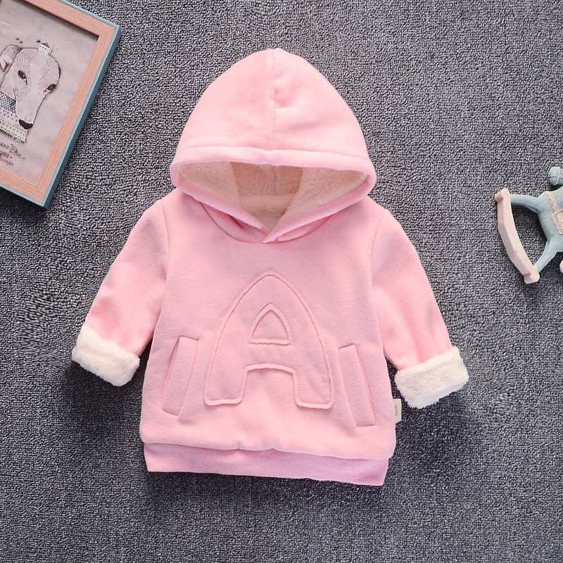 Baby Girl Boys Clothes Winter Thick Warm Children's Sweatshirt  Toddler Casual Hoodies for Girls Kids Plus Velvet Tops Costume 2