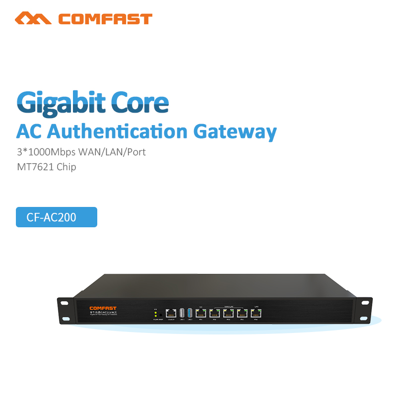 COMFAST CF-CF-AC200 Gigabit Wifi Enterprise Business RouterSecurity gateway, Mutil-Porta WAN, AP di Gestione 4*1000 mbp porta WAN/LAN