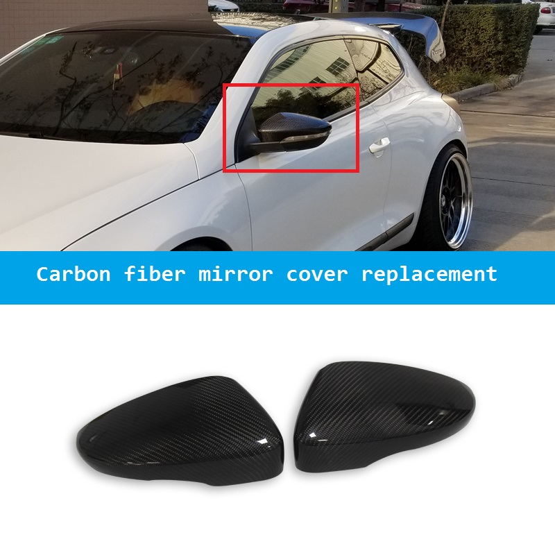 for VW Volkswagen Passat CC B7 Beetle EOS Scirocco R Line Jetta GLI Carbon Fiber Side Wing Mirror Cover Replacement Accessories wisengear led turn signal corner light lamp door rearview mirror cover cap for volkswagen vw beetle cc passat b7 jetta mk6 eos