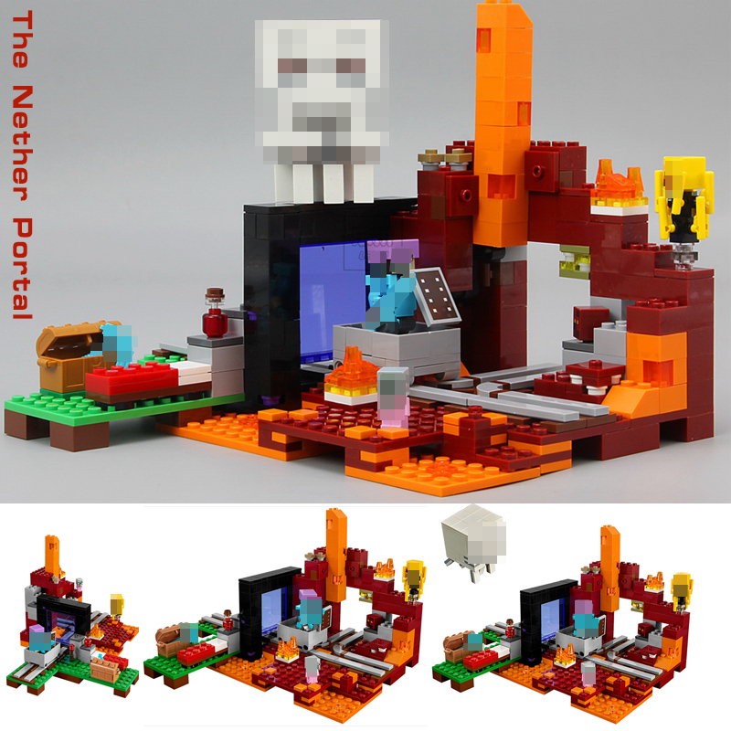 My World Minecraft 527PCS the Nether Portal Building Block Brick Toys for children gift compatible legoingly 21143My World Minecraft 527PCS the Nether Portal Building Block Brick Toys for children gift compatible legoingly 21143