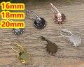 100 pçs/lote Cabochon 16mm, 18mm, 20mm cameo Antique Bronze Lace Gancho do Ouvido, brincos do parafuso prisioneiro de bronze acessórios, configuração da base de brincos