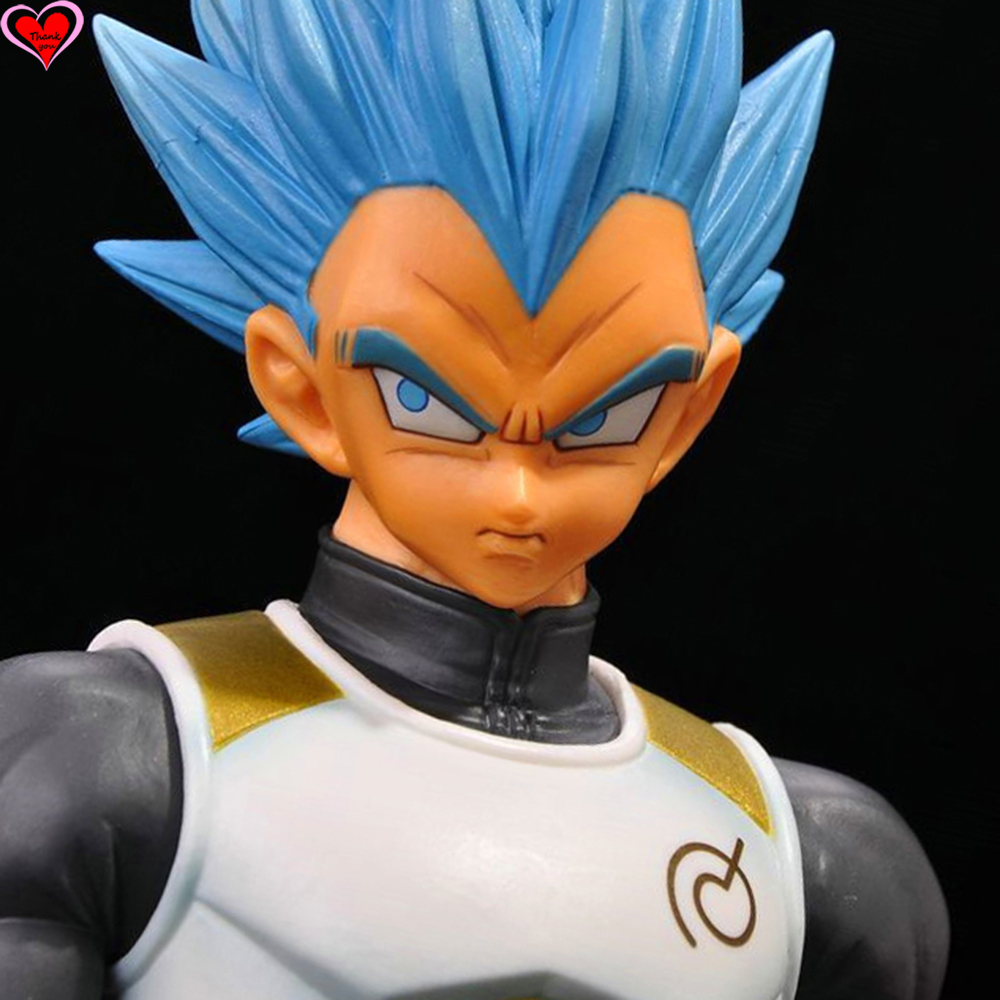 Love Thank You Dragon Ball Z Vegeta Super SaiYan Blue PVC Figure 23cm Anime Hobbies Collectibles Model toy doll gift NEW love thank you game watch genji white