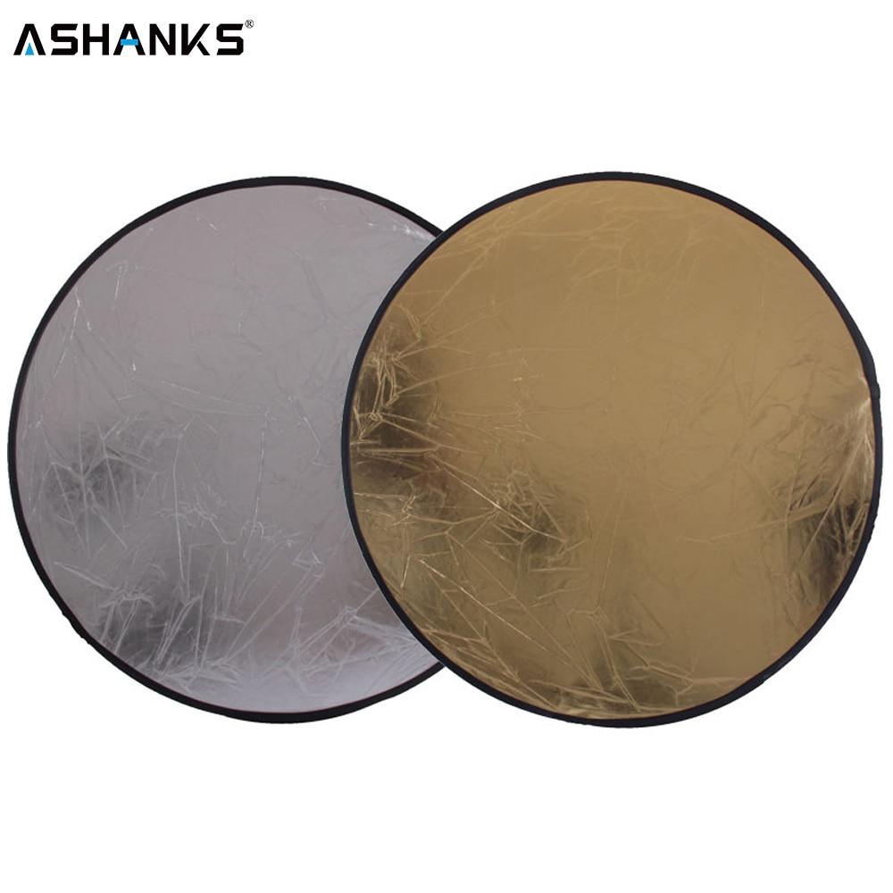 2 in 1 60 cm 23 zoll Runde Flash-Studio Faltbare Refletor Licht Disc Silber Gold Riflettore Großhandel Reflektor