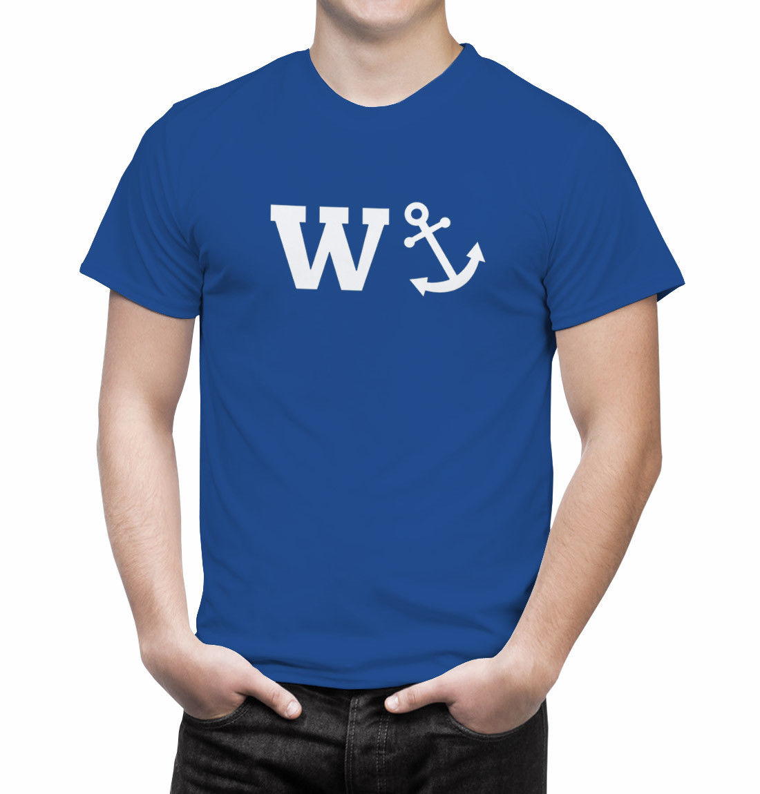 W*anker W Anchor Funny Offensive Mens T Shirt Fathers Day Sailor Gift Summer Short Sleeves T-Shirt Fashion
