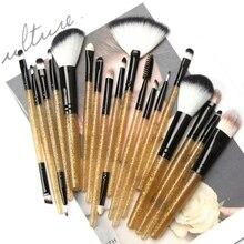 Pro 18Pcs Makeup Brushes Tool Set Eye Shadow Powder Eyeliner Eyelash Lip Foundation Blush Blending Beauty Make Up Kit