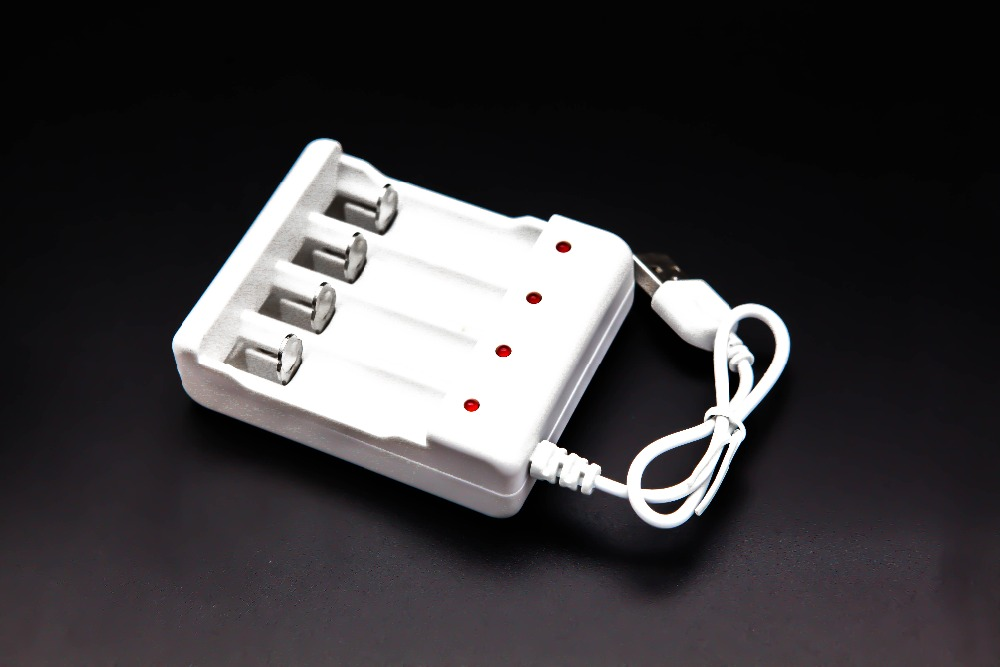 USB 4 Slots Intelligent Battery Charger Promotion AA/AAA lithium-ion rechargeable Battery-15