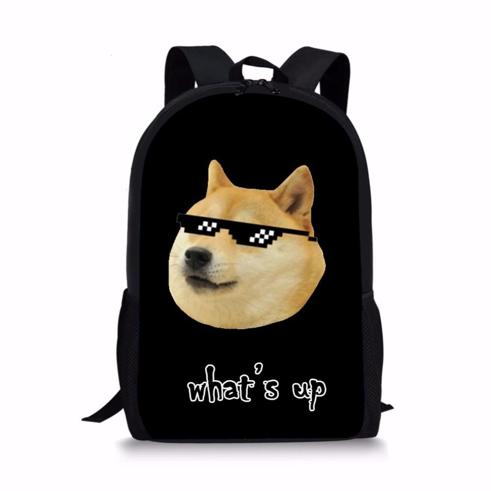 705402f7fb89 Women Backpack Funny Smile Face Shiba Inu Kawaii Doge Emoji Printing  Children School Bags Mochila Feminina Gifts Laptop Backpack-in Backpacks  from Luggage ...
