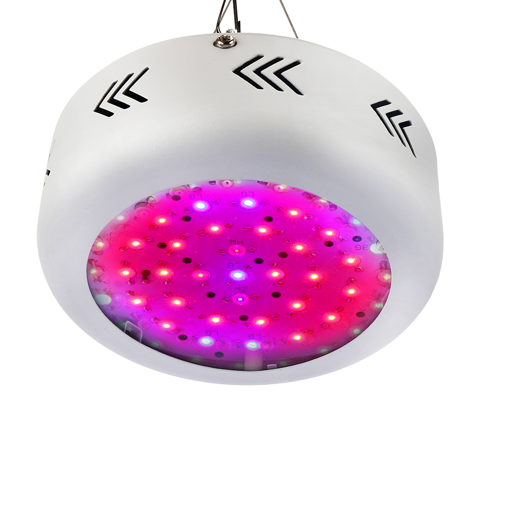 Full Spectrum 150W UFO LED Grow Box Lights AC85~265V Hydroponics Plant Lamp Ideal for All Phases of Plant Growth and Flowering 216w ufo led grow light 72x3w full spectrum ac85 265v hydroponics plant lamp ideal all phases of plant growth and flowering bj